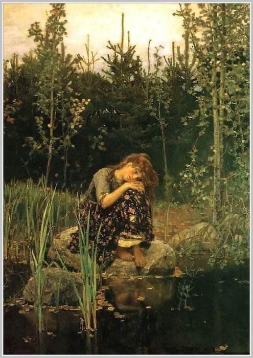 На картине Васнецова «Аленушка»