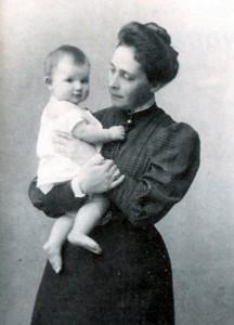 Вера Саввишна с сыном Юрием