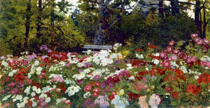 А.А. Киселев. Цветочный сад в Абрамцево. 1880 г.