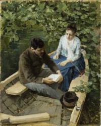 К.А. Коровин. В лодке. 1888 г.
