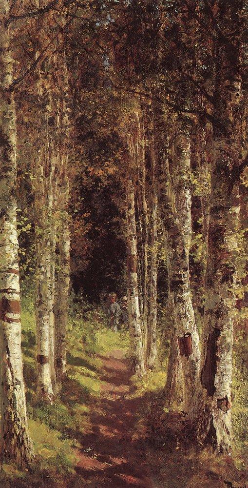 В. Д. Поленов. Березовая аллея в Абрамцево. 1880 г.