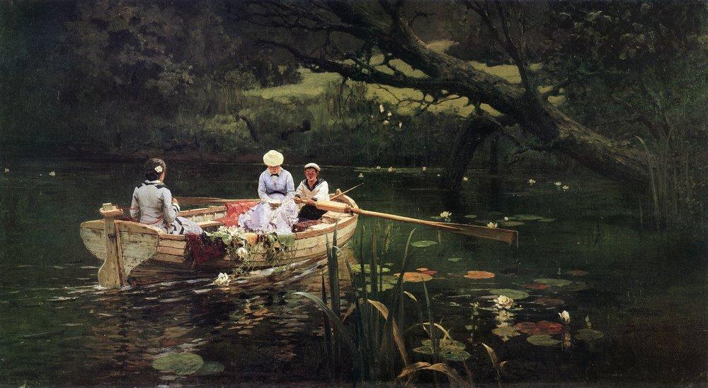 В.Д. Поленов. На лодке. Абрамцево. 1880 г.