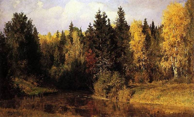 В.Д. Поленов. Осень в Абрамцево. 1890 г.