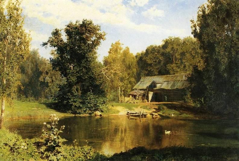 В.Д. Поленов. Пруд в Абрамцево. 1883 г.
