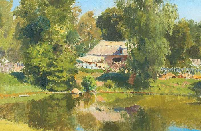 В. Д. Поленов. Верхний пруд в Абрамцеве. 1882 г.
