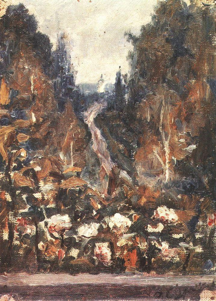 В.И. Суриков. Дорога в Хотьково.1884 год