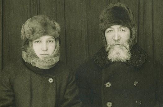 Елизавета с отцом А.Д. Самариным в якутской ссылке