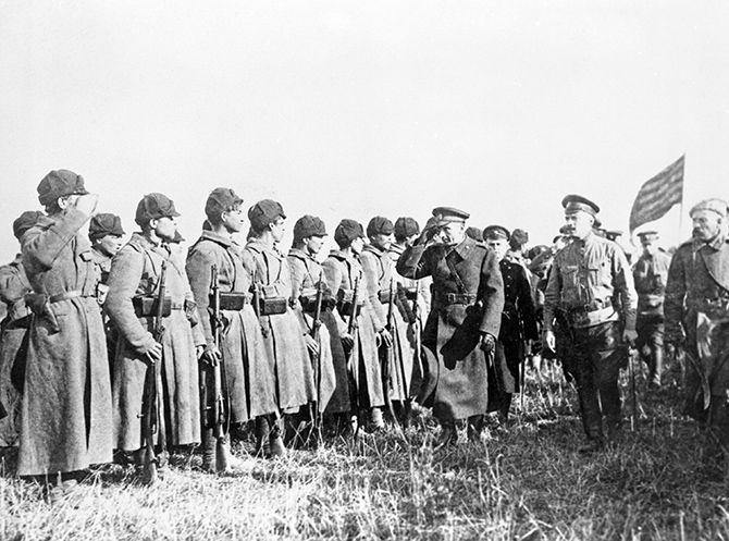 Адмирал А. В. Колчак на фронте