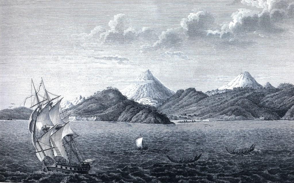 Вид Петропавловской гавани с морской стороны по рис. Тилезиуса: Krusenstern, 1814, XXX