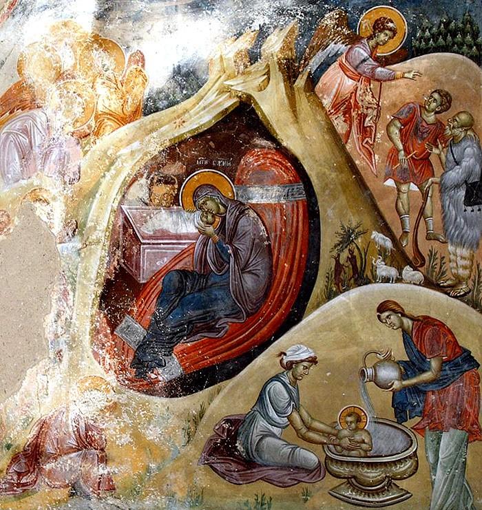 rozhdestvo-hristovo-freska-monastyr-studenitsa-serbiya
