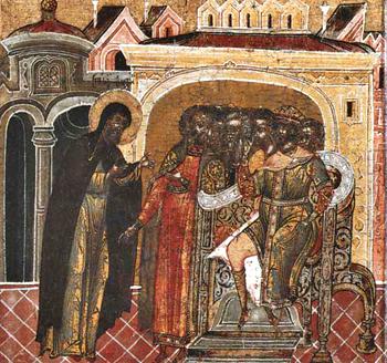 Свт. Филипп обличает царя Иоанна
