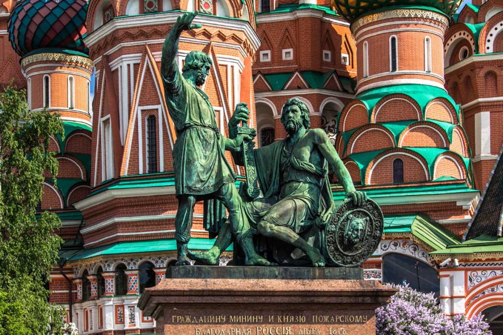 Памятник Минину и Пожарскому на московской Красной площади